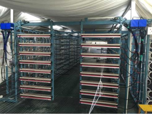 [Electrostatic eliminator installation case] rack mounting electrostatic eliminator.