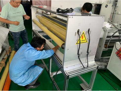 [Export] Qipu electrostatic melt blown cloth electret equipment shipped abroad